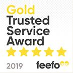 Feefo Gold Trusted Merchant 2019