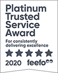 Feefo Platinum Trusted Merchant 2020